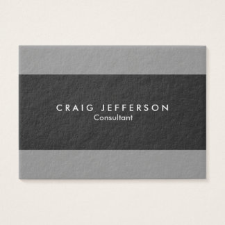 Chubby Grey Stripes Stylish Modern Minimalist Business Card