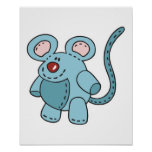 chubby little mouse poster