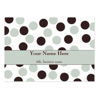 Chubby Mint and Chocolate Polka Dot Business Card