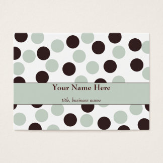 Chubby Mint and Chocolate Polka Dot Business Card