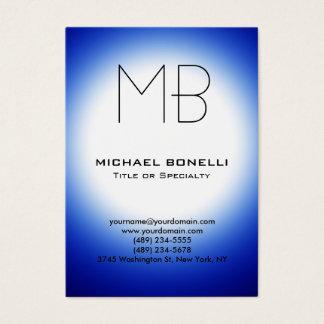 Chubby modern blue white light business card