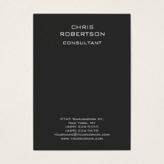 Chubby Modern Grey Vertical Standard Business Card