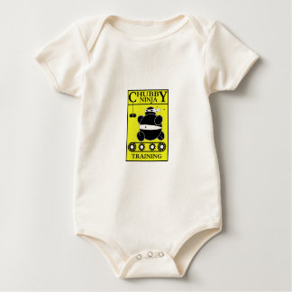 Chubby Ninja - Training (Yellow) Baby Bodysuit