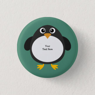 Chubby Penguin (customizable) 3 Cm Round Badge