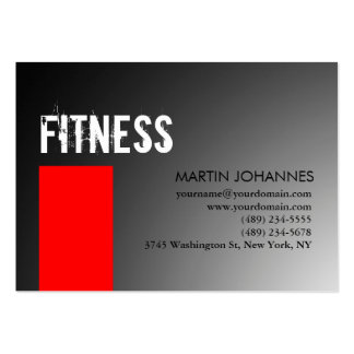 Chubby Personal Trainer Red Gray Business Card