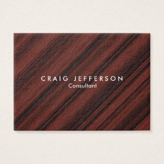 Chubby Reddish Brown Stylish Modern Minimalist Business Card