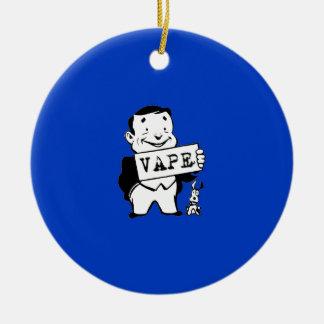 Chubby Retro Man Vape Blue Christmas Ornament
