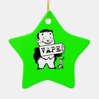 Chubby Retro Man Vape Green Ceramic Star Decoration