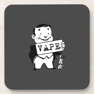 Chubby Retro Man Vape Grey Coaster