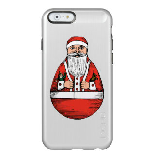 Chubby Rolly Polly Santa Incipio Feather® Shine iPhone 6 Case