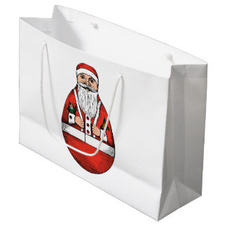Chubby Rolly Polly Santa Large Gift Bag