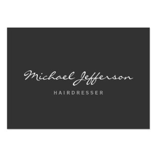 Chubby Size Hairdresser Professional Business Card