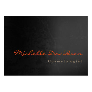 Chubby Trendy Cosmetologist Unique Grey Black Pack Of Chubby Business Cards