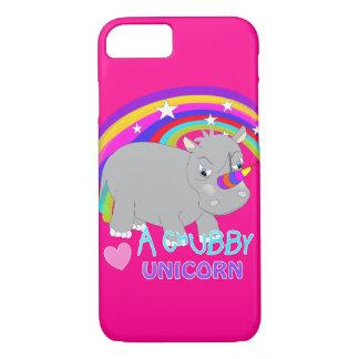 Chubby Unicorn Cute Rainbow Fantasy Fun iPhone 8/7 Case