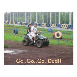 chucky and dad 4, Go..Go..Go..Dad!! Postcard