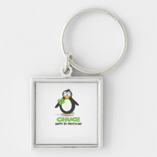 Chug! Happy St. Patty's Day Silver-Colored Square Key Ring