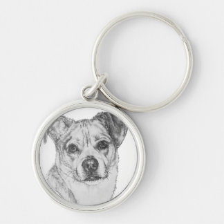 Chug Silver-Colored Round Key Ring