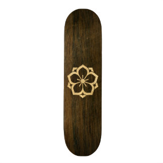 Chuinyaekikyo Japanese Kamon Cherry Blossom Wood Skate Board Deck