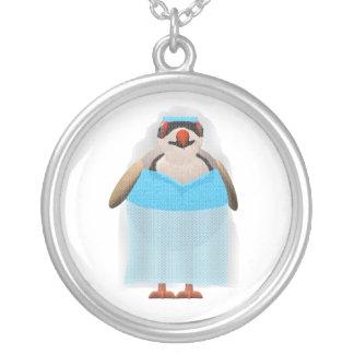 Chukar Brides Maid Round Pendant Necklace