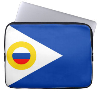 chukotka flag russia country republic region laptop sleeve