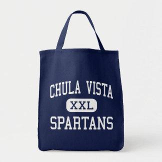 Chula Vista - Spartans - High - Chula Vista Tote Bags