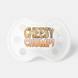 Chump Blue Cheesy Baby Pacifiers