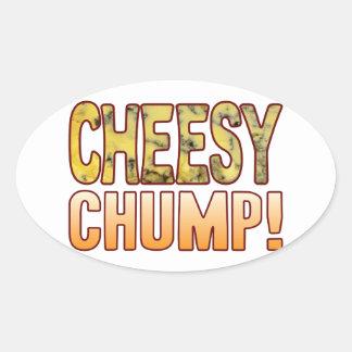 Chump Blue Cheesy Oval Sticker