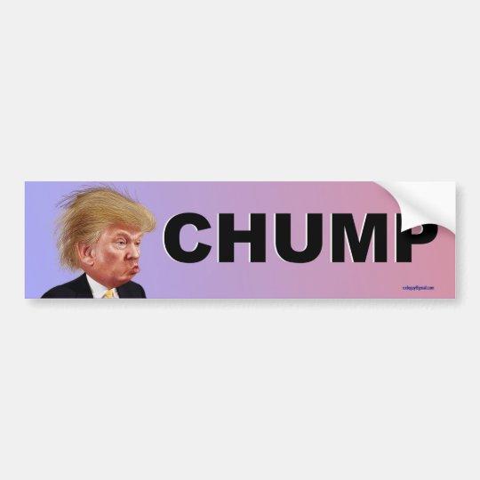 chump bumper sticker