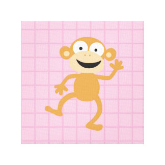 chumpy_the monkey gallery wrapped canvas
