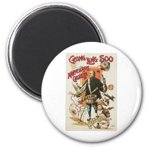 Chung Ling Soo ~ Vintage Chinese Magic Act Magnet