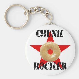 chunk rocker basic round button key ring