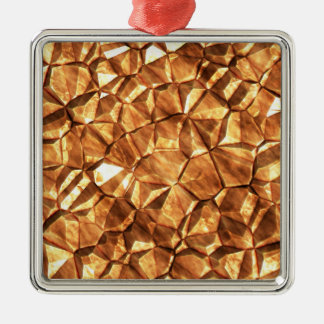 Chunks of Gold Nuggets Background Christmas Ornament