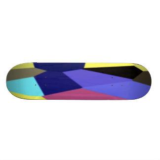 Chunky Blocks in Bright Light Colors Skateboard