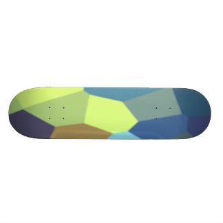 Chunky Blocks in Light Colors Skateboard