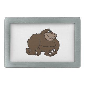 Chunky Brown Ape Gorilla Belt Buckle