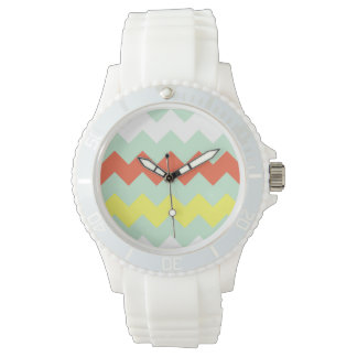 Chunky Chevron - Mint/Coral/Sunshine Watch