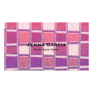 Chunky Chic Glitter Square Glamour Business Card