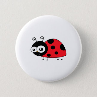 Chunky Cute Ladybug Ladybird Coccinellidae 6 Cm Round Badge