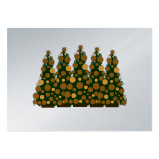 Chunky Gold Message Christmas Tags Pack Of Chubby Business Cards