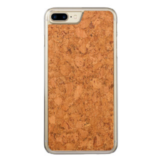 Chunky Natural Cork Wood Grain Look Carved iPhone 7 Plus Case