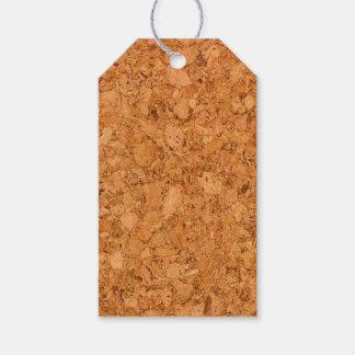 Chunky Natural Cork Wood Grain Look Gift Tags