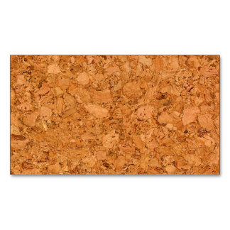Chunky Natural Cork Wood Grain Look Magnetic Business Cards