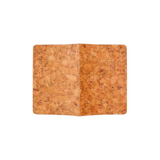 Chunky Natural Cork Wood Grain Look Passport Holder
