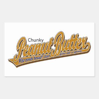 Chunky Peanut Butter Rectangular Sticker