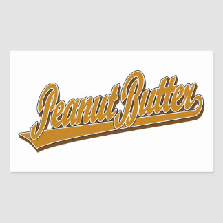Chunky Peanut Butter Rectangular Stickers