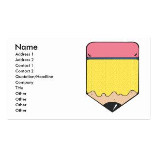 chunky pencil business card