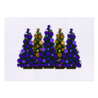 Chunky Purple and Gold Christmas Tags Pack Of Chubby Business Cards