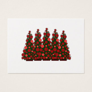 Chunky Red Message Christmas Tags Business Card