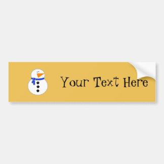 Chunky Snowman Bumper Sticker