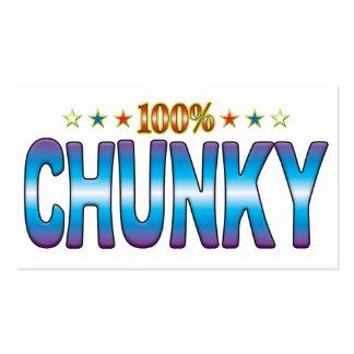 Chunky Star Tag v2 Business Cards